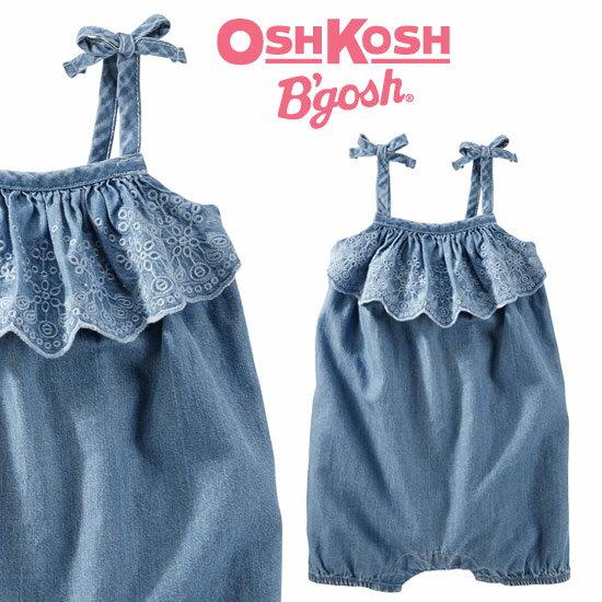 【残り18M,24Mのみ】OshKosh【オシュコシュ】夏のお出掛けに着ていきたい♪キュートなラッフルロンパース【ma0518p】
