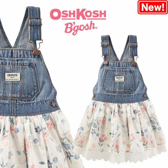 OshKosh【オシュコシュ】フワフワスカートがラブリー♪デニム&アイレットスカート(アンチークフラワー)