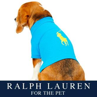 供拉尔夫劳伦狗使用的开领短袖衬衫(Hawaiian彩色)