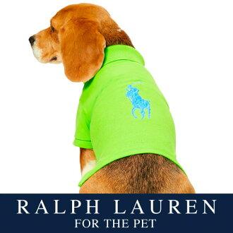 供拉尔夫劳伦狗使用的开领短袖衬衫(Citrus Lime彩色)