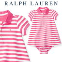 ラルフローレン【Ralph Lauren】人気のポロワンピース(Pink Stripe)【あす楽対応】(ラルフローレン ワンピース ベビ…