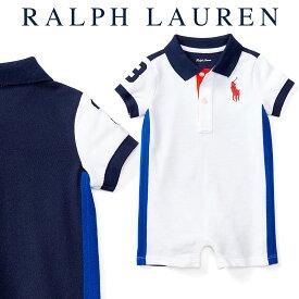 ラルフローレン【Ralph Lauren】デザインコットンロンパース(ホワイトブロック)【あす楽対応】(ラルフローレン ロンパース ベビー 出産祝い Ralph Lauren 赤ちゃん 男の子)