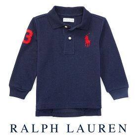 ラルフローレン【Ralph Lauren】メッシュ生地長袖ポロシャツ(ネイビー)【あす楽対応】ポロシャツ ベビー 出産祝い Ralph Lauren 赤ちゃん 男の子