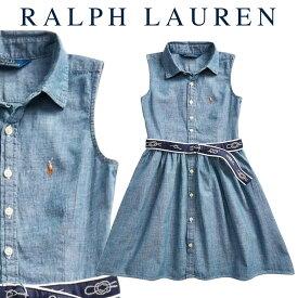ラルフローレン【Ralph Lauren】シャンブレードレス2ピースセット【あす楽対応】ドレス ベビー 出産祝い 赤ちゃん