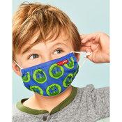 スキップホップ(SkipHop)柔らかコットン製子供用マスク3枚セット(綿100%キッズマスク子供用マスク洗えるマスク裏面ガーゼ子供マスク男の子女の子)