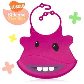 Ulubulu【ウルブル】サっと洗ってどんどん使える♪ぷにゅぷにゅ柔らかシリコンスタイ (S.A.M. Monster)シリコン スタイ ビブ 出産祝い お出掛け 旅行 ギフト feb19_pup