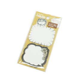 ネコポス可 BIG 付箋 ふきだし型ふせん モノクロマンガ 84620 カミオジャパン 文房具 メモ ペンケース 筆箱