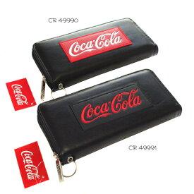 メール便可 コカ・コーラ 長財布 49990 49991 CocaCola ラウンド ロング ウォレット クラックス 炭酸飲料 キャラクター グッズ あす楽