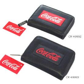 メール便可 コカ・コーラ コインケース 49992 49993 CocaCola ラウンド ウォレット 折りたたみ 財布 クラックス 炭酸飲料 キャラクター グッズ あす楽