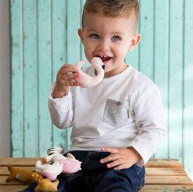 【オリー&キャロル】OLI&CAROL フラミンゴのスカイちゃん 知育玩具 歯固め バストイ 水遊び お風呂 おもちゃ 感触遊び 出産祝い ギフト