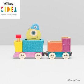 【Disney|KIDEA】ディズニー キディア キデア TRAIN&RAIL マイク 木製 汽車 列車 モンスターズ インク でんしゃ おもちゃ 積み木 ブロックかわいい プレゼント ギフト