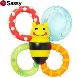 【ゆうパケット無料】Sassy(サッシー)カミカミみつばち 触感の違う歯固め 冷蔵庫でひんやり