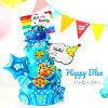 給尿布蛋糕3段分娩祝賀男人的子女的孩子名免費的★即日發送Sassy/sasshitaoru尿布蛋糕櫻花[流行音樂明星尿布蛋糕]