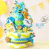 Fun!Fun!Smiley 4段尿布蛋糕分娩祝賀以及生日禮物(Sassy)sasshibasutaoru在的尿布蛋糕[Smiley尿布蛋糕]
