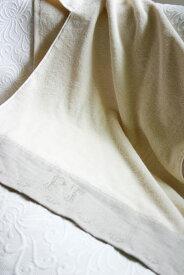 麻織り刺繍つきのバスタオル 大判で使いやすい おしゃれな高級志向の贈り物に♪オーガニックコットン プリスティン【あす楽対応】