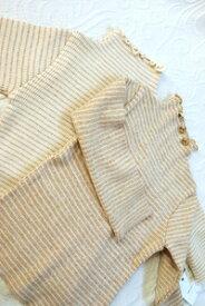 【1点までネコポス可能】ボーダー柄のハイネック長袖Tシャツ シンプルでインナーにおすすめのベビー服(子供服)(80/90/100)オーガニックコットン PRISTINE【あす楽対応】