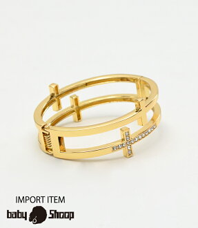 Lady's fashion street dance double cloth bangle of baby Shoop ベイビーシュープ B origin