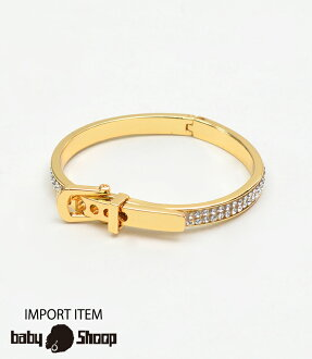 Lady's fashion street dance buckle style thin bangle of baby Shoop ベイビーシュープ B origin