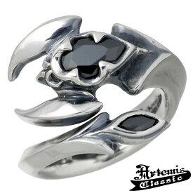 アルテミスクラシック Artemis Classic ポイズン スコーピオン シルバー リング 指輪 アクセサリー メンズ ブラックキュービック 15〜21号 シルバー925 スターリングシルバー ACR0230
