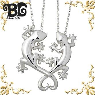 Blue Cat silver Gecko pair necklace mens Womens pendant pair axe por item