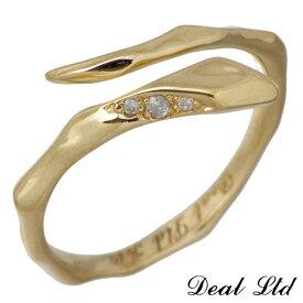DEAL LTD【ディールエルティーディー】 LINE SNAKE RING W S K10 ゴールド リング ダイヤモンド スネーク ヘビ 指輪 7号〜19号DEAL DESIGN【ディールデザイン】 310184K10