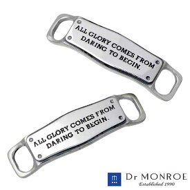Dr MONROE【ドクターモンロー】 シルバー シューレース チャーム メッセージ 2個売り シルバーアクセサリー シルバー925 SLC-04-SV
