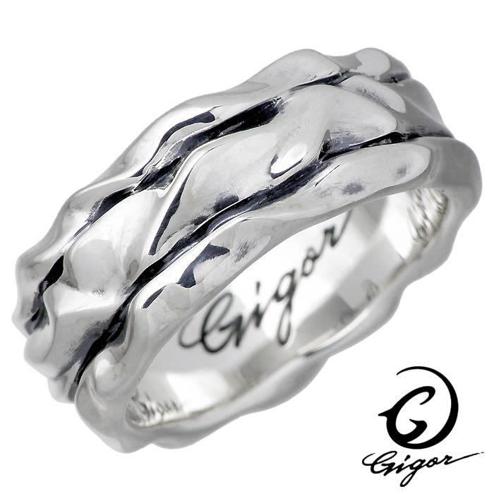 GIGOR【ジゴロウ】ラリット シルバー リング 指輪 メンズ レディース 7〜25号 NO-362
