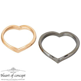 HEART OF CONCEPT【ハートオブコンセプト】 シルバー ペアリング 指輪 アクセサリー エターナルラブ ハート 6〜16号 12〜22号 ピンク ブラック HCR-284LPK-MBK
