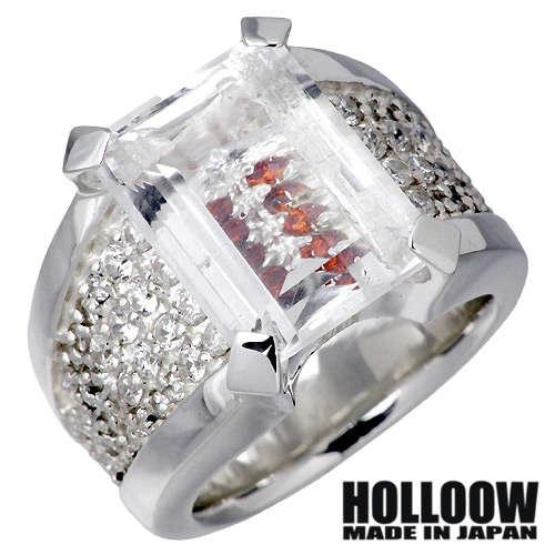HOLLOOW【ホロウ】 マニフェスト シルバー リング クォーツ 10〜25号 指輪 シルバーアクセサリー シルバー925 KHR-55SV