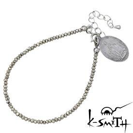K-SMITH【ケースミス】 パイライト ブレスレット アクセサリー メダイ レディース KI-PL-B-L