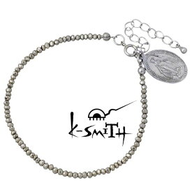 K-SMITH【ケースミス】 パイライト ブレスレット アクセサリー メダイ メンズ KI-PL-B-M
