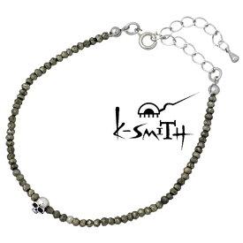 K-SMITH【ケースミス】 パイライト ブレスレット アクセサリー スカル レディース シルバー925 スターリングシルバー KI-PSK-B-L