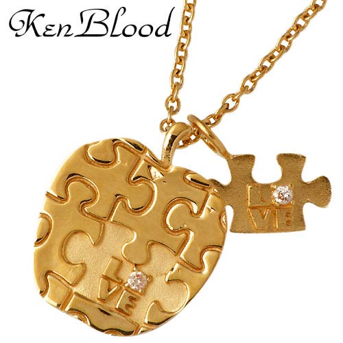 KEN BLOOD【ケンブラッド】 りんご パズル シルバー ネックレス ゴール シルバーアクセサリー シルバー925 KB-KP-302GD