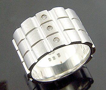 KEN BLOOD【ケンブラッド】 3ダイヤモンド シルバー リング 指輪 シルバーアクセサリー シルバー925 KB-KR-117