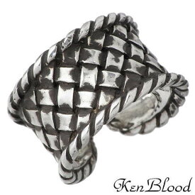 KEN BLOOD【ケンブラッド】 編みこみ シルバー リング 指輪 シルバーアクセサリー シルバー925 KB-KR-216