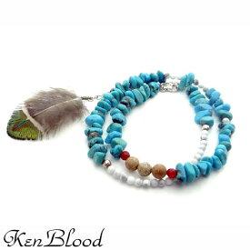 KEN BLOOD【ケンブラッド】 2重巻き ストーン ブレスレット ターコイズ シルバーアクセサリー シルバー925 KP-329