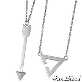 KEN BLOOD【ケンブラッド】シルバー ペア ネックレス ARROW & TRIANGLE KP-468