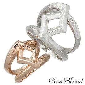KEN BLOOD【ケンブラッド】 クロス ローズ シルバー ペア リング 指輪 15〜25号 9〜19号 シルバーアクセサリー シルバー925 KR-245ASV-BPK-P
