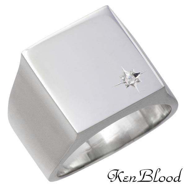 KEN BLOOD【ケンブラッド】 シルバー リング ダイヤモンド シャイン メンズ 指輪 13〜25号 シルバーアクセサリー シルバー925 KR-251P