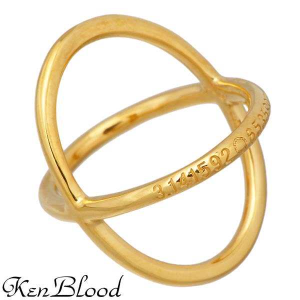 KEN BLOOD【ケンブラッド】 シルバー リング ゴールド 指輪 7〜17号 シルバーアクセサリー シルバー925 KR-254GD