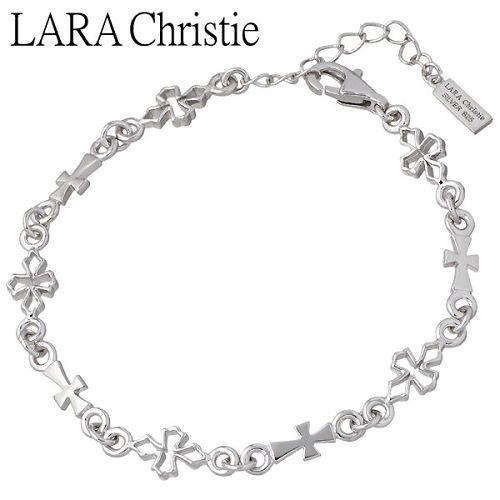 LARA Christie【ララクリスティー】 テンプルクロス シルバー ブレスレット ホワイト WHITE Label シルバーアクセサリー シルバー925 LA-B6036-W