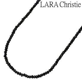 ララクリスティー LARA Christie ブラックスピネル シルバー ネックレス アクセサリー 40〜45cm シルバー925 スターリングシルバー LA-P5059
