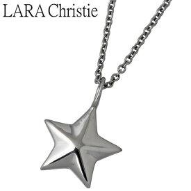 LARA Christie【ララクリスティー】 ステラ シルバー ネックレス ブラック スター BLACK Label シルバーアクセサリー シルバー925 LA-P5714-B