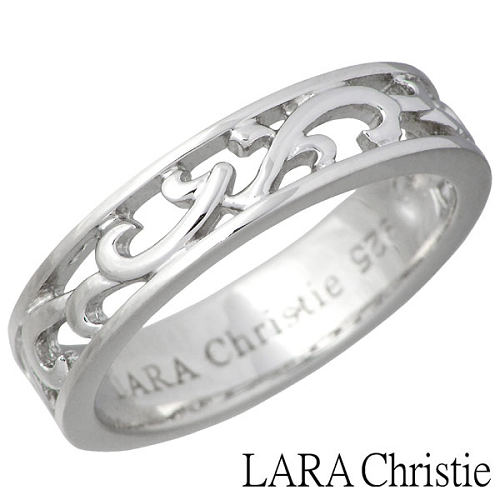LARA Christie【ララクリスティー】 ランソー シルバー リング ホワイト 7〜15号 指輪 WHITE Label シルバーアクセサリー シルバー925 LA-R6028-W