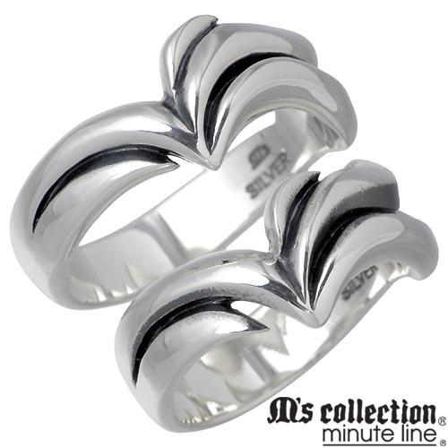 M's collection minute line【エムズコレクション】 シルバー ペア リング 7〜13号 15〜21号 指輪 シルバーアクセサリー シルバー925 MC-698-699-P