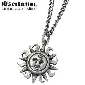 M's collection X Sies【エムズコレクション】 別注モデル 太陽 シルバー ネックレス 誕生石 シルバーアクセサリー シルバー925 AA-132BD