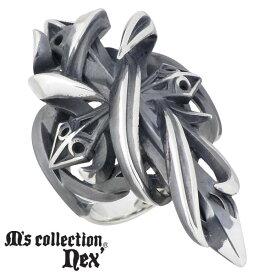 エムズ コレクション M's collection シルバー クロス リング 十字架 メンズ 指輪 アクセサリー 17〜23号 シルバー925 スターリングシルバー X0247