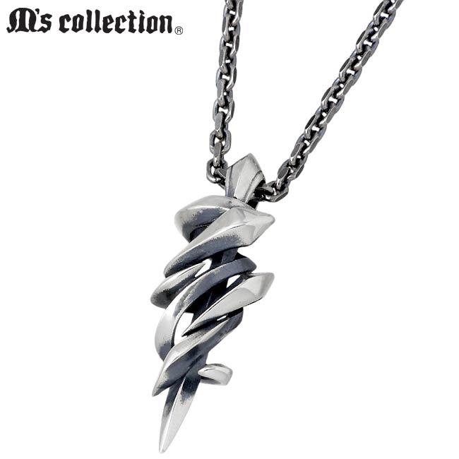 M's collection【エムズ コレクション】デザイン シルバー ネックレス メンズ XP-096