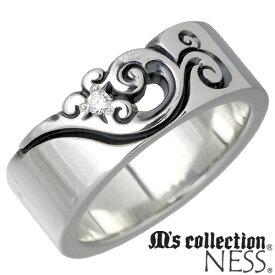 M's collection NESS【エムズコレクション】 キュービック シルバー リング レディース 7〜13号 フェザー 羽 指輪 シルバーアクセサリー シルバー925 MC-376CZ