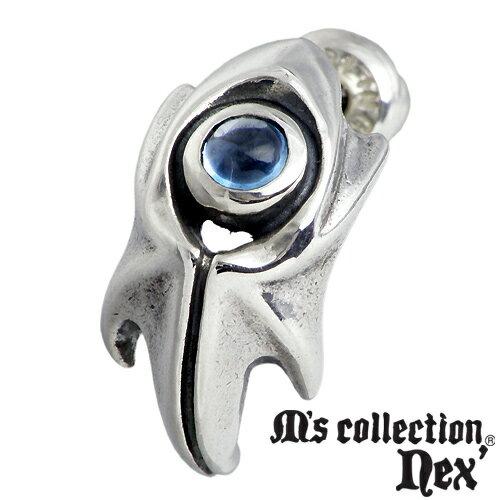 M's collection nex'【エムズコレクション】 ストーン スタッド シルバー ピアス 1個売り 片耳用 シルバーアクセサリー シルバー925 L-706